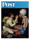"""Willie's Rope Trick"" Saturday Evening Post Cover, June 26,1943 Giclee Print by Norman Rockwell"