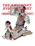 """Pharmacist"" Saturday Evening Post Cover, March 18,1939 Giclee-trykk av Norman Rockwell"
