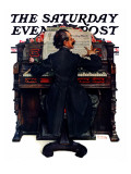 """""""Wedding March"""" Saturday Evening Post Cover, June 23,1928 Giclee Print by Norman Rockwell"""