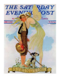 """Springtime, 1933"" Saturday Evening Post Cover, April 8,1933 Giclee Print by Norman Rockwell"