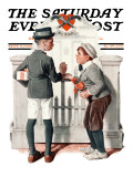 """Rivals"" Saturday Evening Post Cover, September 9,1922 Giclee Print by Norman Rockwell"