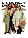 """Barbershop Quartet"" Saturday Evening Post Cover, September 26,1936 Giclée-Druck von Norman Rockwell"