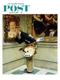"""Art Critic"" Saturday Evening Post Cover, April 16,1955 Giclee Print by Norman Rockwell"
