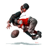 """Fumble"" or ""Tackled"", November 21,1925 Giclee Print by Norman Rockwell"