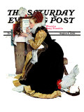 """Summer stock"" Saturday Evening Post Cover, August 5,1939 Giclee Print by Norman Rockwell"