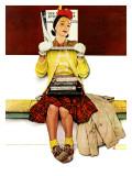 """""""Cover Girl"""", March 1,1941 Reproduction procédé giclée par Norman Rockwell"""