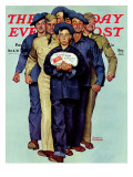 """Willie Gillis' Package from Home"" Saturday Evening Post Cover, October 4,1941 Giclee Print by Norman Rockwell"
