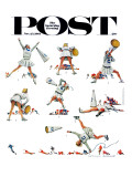 """Cheerleader"" Saturday Evening Post Cover, November 25,1961 Giclee Print by Norman Rockwell"