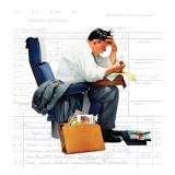 &quot;Balancing the Expense Account&quot;, November 30,1957 Giclee Print by Norman Rockwell