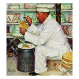 """""""How to Diet"""", January 3,1953 Giclee-trykk av Norman Rockwell"""