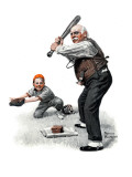 """Gramps at the Plate"", August 5,1916 Giclee Print by Norman Rockwell"