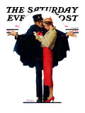 """""""Lost in Paris"""" or """"Boulevard Haussmann"""" Saturday Evening Post Cover, January 30,1932 Impression giclée par Norman Rockwell"""
