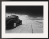 1940 Coupe Salt Flat Racer Framed Giclee Print by David Perry