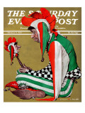 """Jester"" Saturday Evening Post Cover, February 11,1939 Reproduction procédé giclée par Norman Rockwell"