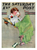 """Diary"" Saturday Evening Post Cover, June 17,1933 Reproduction procédé giclée par Norman Rockwell"