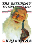 """Christmas, 1927"" (King Kong Santa) Saturday Evening Post Cover, December 3,1927 Giclee Print by Norman Rockwell"