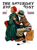 """Young Artist"" or ""She's My Baby"" Saturday Evening Post Cover, June 4,1927 Giclee Print by Norman Rockwell"