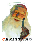 &quot;Christmas, 1927&quot; (King Kong Santa), December 3,1927 Giclee Print by Norman Rockwell