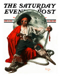 """Thoughts of Home"" Saturday Evening Post Cover, June 14,1924 Giclee Print by Norman Rockwell"