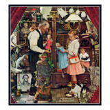 """April Fool, 1948"", April 3,1948 Giclee Print by Norman Rockwell"