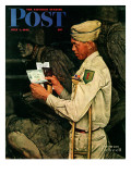 """War Bond"" Saturday Evening Post Cover, July 1,1944 Giclee Print by Norman Rockwell"