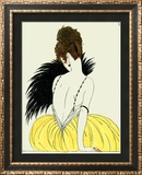 Woman with Fan Framed Giclee Print by Georges Barbier
