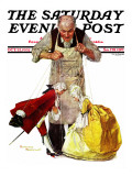 """Marionettes"" Saturday Evening Post Cover, October 22,1932 Reproduction procédé giclée par Norman Rockwell"