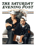 &quot;Thinking of the Girl Back Home&quot; Saturday Evening Post Cover, January 18,1919 Reproduction proc&#233;d&#233; gicl&#233;e par Norman Rockwell