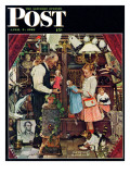 """April Fool, 1948"" Saturday Evening Post Cover, April 3,1948 Reproduction procédé giclée par Norman Rockwell"
