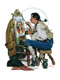 """Colonial Sign Painter"", February 6,1926 Giclee Print by Norman Rockwell"