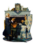 """Tea for Two"" or ""Tea Time"", October 22,1927 Giclee Print by Norman Rockwell"