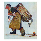 """Mermaid"" or ""Lobsterman"", August 20,1955 Reproduction procédé giclée par Norman Rockwell"