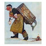 """Mermaid"" or ""Lobsterman"", August 20,1955 Giclee-trykk av Norman Rockwell"