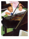 """Jeff Raleigh's Piano Solo"", May 27,1939 Giclee Print by Norman Rockwell"