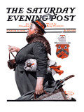 """Housekeeper"" Saturday Evening Post Cover, March 27,1920 Reproduction procédé giclée par Norman Rockwell"