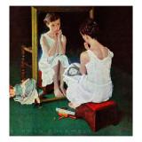 Menina no espelho, 6 de março de 1954 Impressão giclée por Norman Rockwell