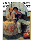 """Yarn Spinner"" Saturday Evening Post Cover, November 8,1930 Giclee Print by Norman Rockwell"