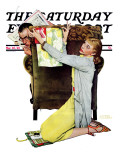 """Decorator"" Saturday Evening Post Cover, March 30,1940 Reproduction procédé giclée par Norman Rockwell"