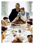"""""""Freedom From Want"""", March 6,1943 Giclee-trykk av Norman Rockwell"""