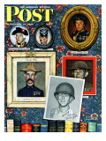 &quot;Willie Gillis Generations&quot; Saturday Evening Post Cover, September 16,1944 Giclee Print by Norman Rockwell