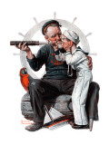 """""""Setting One's Sights"""" or """"Ship Ahoy"""", August 19,1922 Impression giclée par Norman Rockwell"""