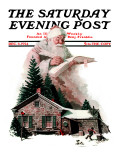 """Good Deeds"" Saturday Evening Post Cover, December 6,1924 Giclee Print by Norman Rockwell"