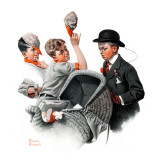 """Baby Carriage"", May 20,1916 Giclee Print by Norman Rockwell"