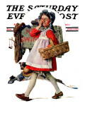 """No Peeking"" Saturday Evening Post Cover, June 15,1929 Giclee Print by Norman Rockwell"