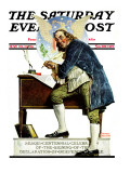 """""""Independence"""" or """"Ben Franklin"""" Saturday Evening Post Cover, May 29,1926 Impression giclée par Norman Rockwell"""