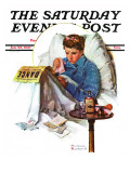 """Missing the Dance"" Saturday Evening Post Cover, January 23,1937 Giclee Print by Norman Rockwell"