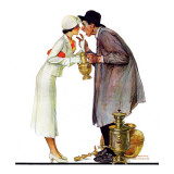 """Bargaining with Antique Dealer"", May 19,1934 Reproduction procédé giclée par Norman Rockwell"