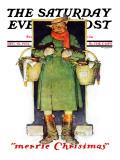 """Merrie Christmas"" Saturday Evening Post Cover, December 10,1932 Reproduction procédé giclée par Norman Rockwell"
