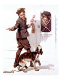 """Three's Company"", June 19,1920 Giclee Print by Norman Rockwell"