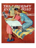 """Movie Star"" Saturday Evening Post Cover, February 19,1938 Reproduction procédé giclée par Norman Rockwell"